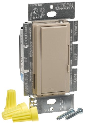 Lutron DVSC-600P-TP Diva 600W Single Pole Dimmer Taupe