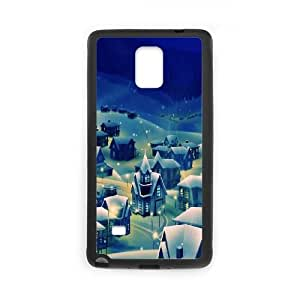 Peaceful Village Christmas Eve Samsung Galaxy Note 4 Cell Phone Case Black Protect your phone BVS_695552