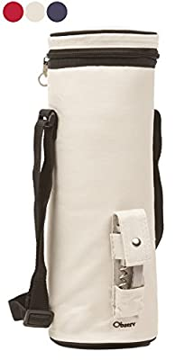 Observ Wine Carrier - Insulated Wine Bottle Tote Bag with Bottle Opener