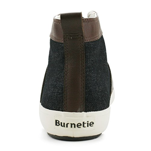Burnetie Mens Brun Svart Leo Hög Topp Gymnastiksko