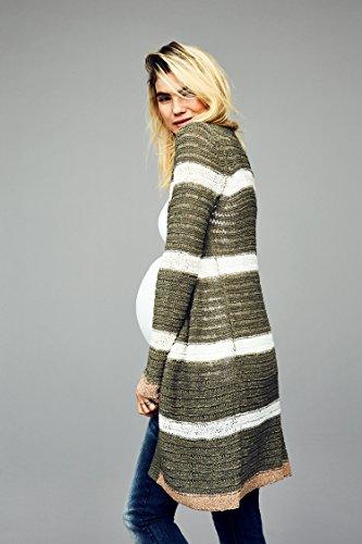 MAMALICIOUS Mllesley L/S Knit Cardigan, Rebeca para Mujer Multicolor (Vetiver)