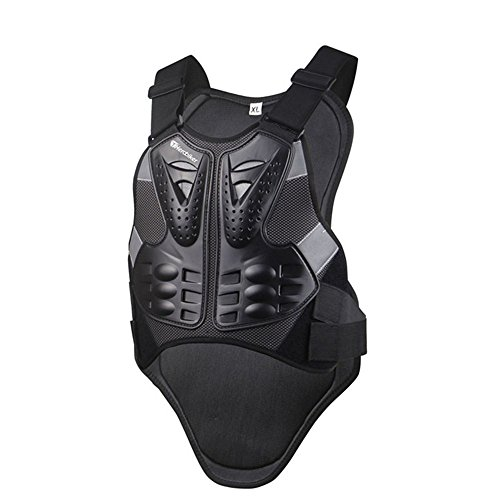 HEROBIKER MC102B Motorcross Racing Armor Black Motorcycle Riding Body Protection Jacket With A Reflecting Strip Motorcycle Armor by HEROBIKER