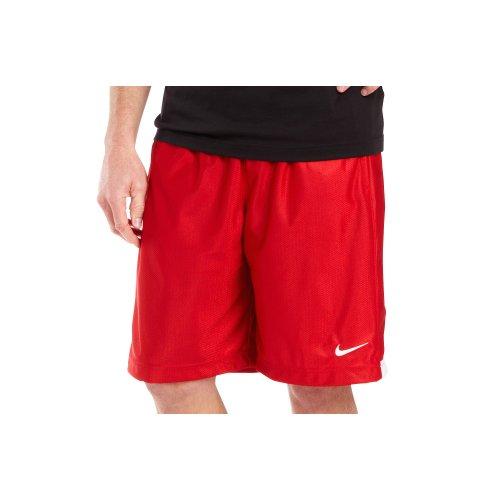 NIKE Men's Zone Basketball Warm Up Shorts-Red/White-XL