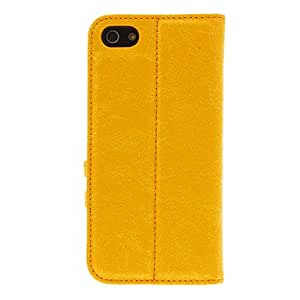 SHOUJIKE Quality Matte PU Full Body Case with Stand for iPhone 5C (Assorted Colors) , Blue
