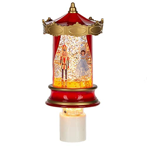 Midwest Goldtone Carousel Nutcracker Ballet Lighted 6 inch Acrylic Decorative Plug-in Night Light