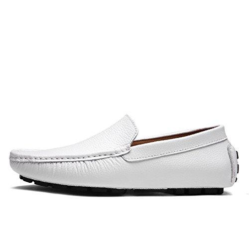 Sports zmlsc Couleur Business Toile Chaussures Ruban Occasionnels Hommes Pointu Rond Printemps Automne Eté Hiver Souple White 6qw16Fnr