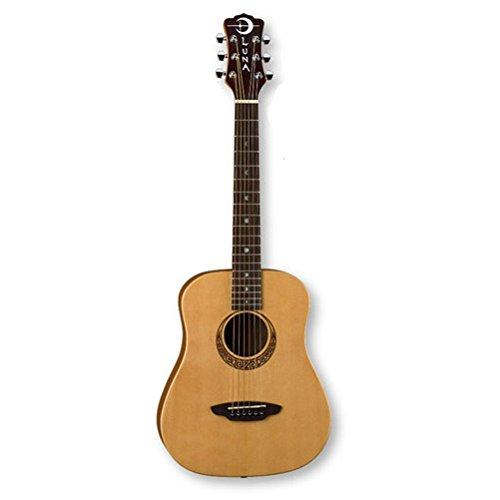 Luna Safari Series Muse Spruce 3/4-Size Travel Acoustic Guitar - Natural by Luna Guitars
