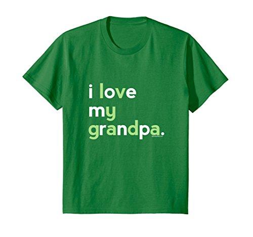 Kids I Love My Grandpa Shirt Boys | Kids Birthday Ideas Gifts Tee 12 Kelly (Grandpa Kids T-shirt)