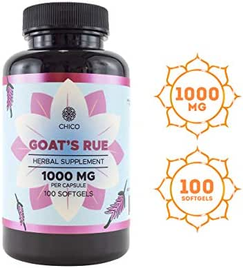 Goat's Rue 100 Softgels 1000 mg | Lactation Supplement | Increases Breast Milk Supply | Supports Mammary Tissue Growth | Alcohol-Free Liquid Capsules | Gluten-Free | Non-GMO