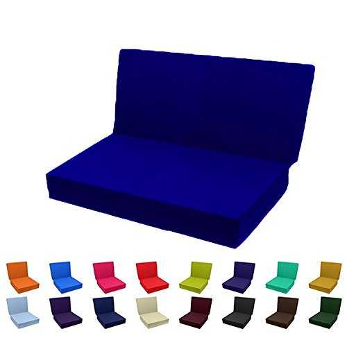 Magshion Futon Furniture Solid Color Trifold Bed - The Breathable and Easy Setup