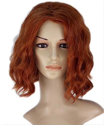 Xcoser Avengers Cosplay Black Widow Wig Womens for Halloween