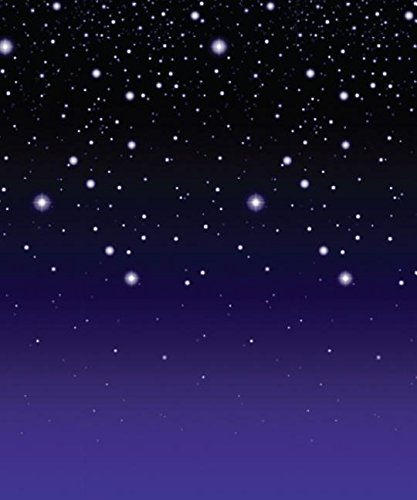 Starry Night Backdrop Party Accessory (1 count) (1/Pkg)