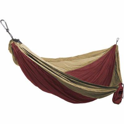 Grand Trunk DH-06 Double Parachute Hammock, Nylon, Crimson/Khaki - Quantity 24