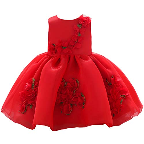 WOCACHI Toddler Kids Baby Girls Flower Princess Party Performance Formal Tutu Dress Newborn Mom Daughter Son Coverall Layette Sets Best Gift Multi Adorable Dress-up Outfits (Nutrition Performance Center)