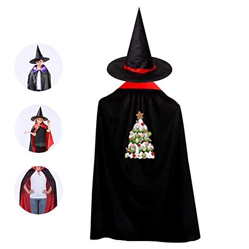 SeVam Colorful Snow Christmas Tree Kids Cloak Suit