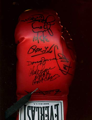 Muhammad Ali Opponents Signed Full Size Everlast Boxing Glove 9 Signatures JSA - Autographed Boxing Gloves (Boxing Signed Gloves Muhammad Ali)