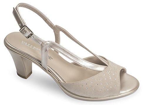 VALLEVERDE Women's Fashion Sandals Beige nGk0s5QSN