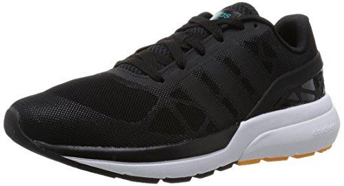 Adidas Hombres Cloudfoam Flow, Negro / Blanco / Amarillo Negro / Blanco / Amarillo