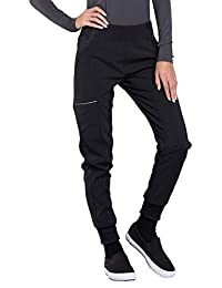 Cherokee Infinity CK110A Women's Mid Rise Tapered Jogger Scrub Pant