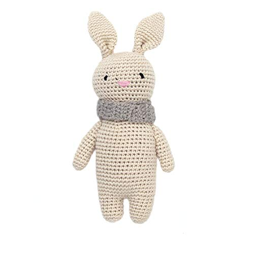 (Cheengoo Organic Bamboo Hand Crocheted Mini Doll - Bailey The Bunny)