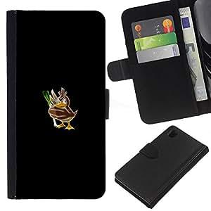 All Phone Most Case / Oferta Especial Cáscara Funda de cuero Monedero Cubierta de proteccion Caso / Wallet Case for Sony Xperia Z1 L39 // Poke Mosnter Duck