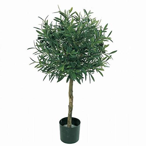人工観葉植物 オリーブトピアリーL 高さ85cm fz4401 (代引き不可) インテリアグリーン 造花 B07T21K3FJ