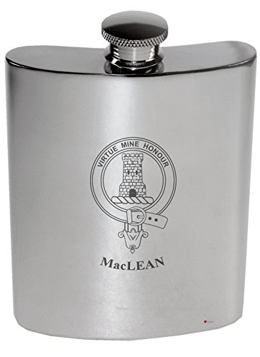 maclean-family-crest-6oz-polished-pewter-kidney-flask