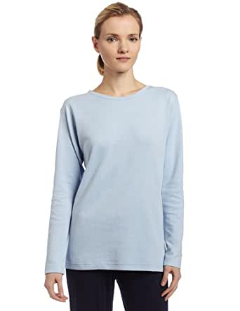 Duofold Women's Midweight Long Sleeve 2 Layer Crew With Moisture Wicking,Frost,Small