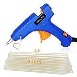 Mini Hot Glue Gun Kit with 30 PCS Glue Gun Sticks,Rapid Heating Technology Holding Stand Hot Glue Gun for DIY Arts (20 Watt)