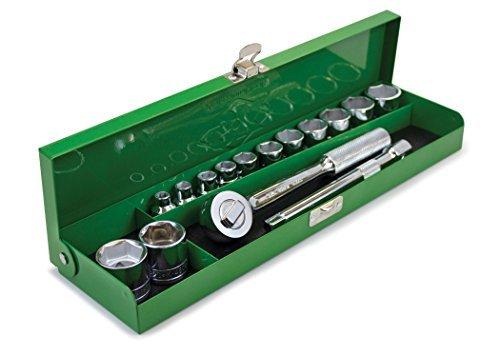 SKハンドツール94515 15pieceフル範囲3 / 8 SAE – メタルボックス、by SKハンドツール B01N1IUZ68