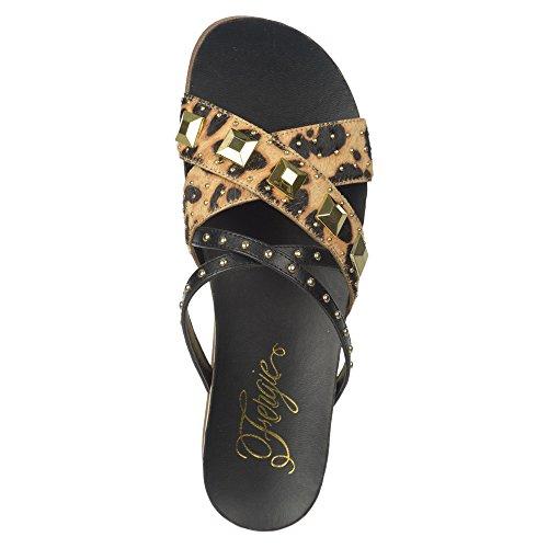 Fergie Chaussures Dexter Sandale Léopard Poney Cheveux