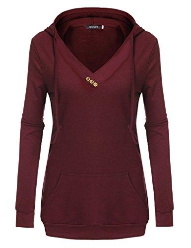 ARANEE Sleeve Pullover Kangaroo Sweatshirt