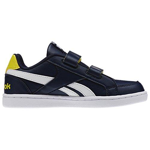 Reebok Royal Prime Alt, Zapatillas de Deporte para Niños Azul / Amarillo / Blanco  (Navy/Yellow Spark/White)