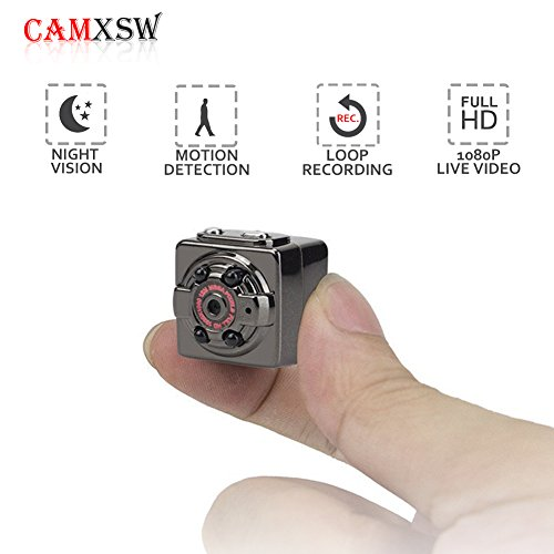 Cheap CAMXSW The Smallest HD 1080P Camera Portable Mini Hidden Spy Camera Indoor/Outdoor Sport Portable Mini DV Video Recorder with 4 Infrared/IR Night Vision,Video,Record,Take Photos with Motion Detecting…