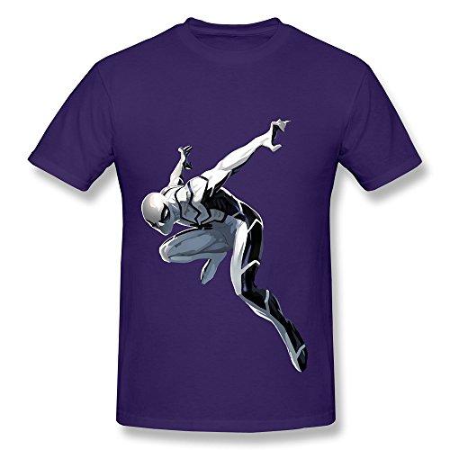 Urban Ninja Costume (HM Men's T-shirts Handsome White Costume Spideman Size XL Purple)