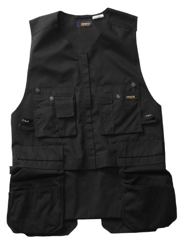 - Blaklader Workwear Roughneck Kangaroo Vest, Medium - 11-Ounce Cotton - Black