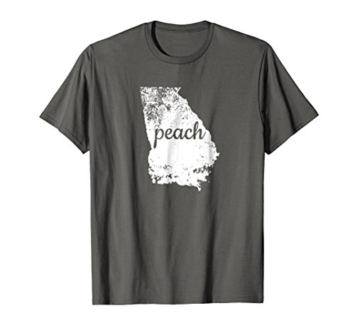 Mens Georgia Peach State Shirt GA Map Love Pride Distressed Tee 2XL Asphalt