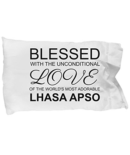 Lhasa Apso Pillow Case - Blessed with the Unconditional Love - Cute Mom Dad Pillowcase Bedding Cushion Cover Gift Stuff Accessories For Dog Lovers 20