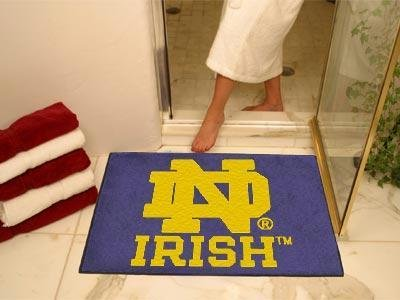 (Fanmats Ncaa Notre Dame 4416 College Sports Team Logo Home Bathroom Decorative Welcome Floor Mat All-Star Rugs 34