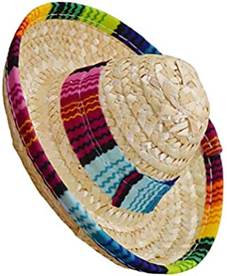 Toyvian 3 Pack of Mini Sombrero Party Hats Mexican Hats for Kids Dolls Pets Party Decorations