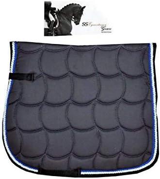SSEG Almohadilla para sillín/Numnah Royal Grey – Almohadilla de Lujo para Montar a Caballo – Tamaño Completo – Equestrian