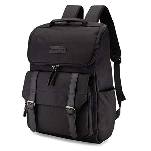 HumanCentric Canvas Laptop Backpack for Men and Women (Black) | Professional Vintage Backpack for Work, School, College, and Travel ()