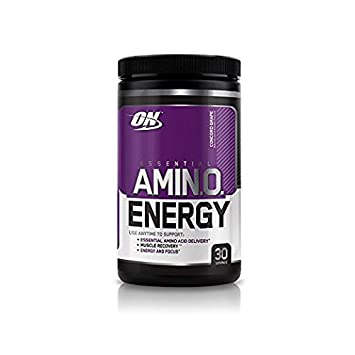 Optimum Nutrition Amino Energy with Green Tea and Green Coffee Extract, Preworkout and Essential Amino Acids, Concord Grape 30 Servings
