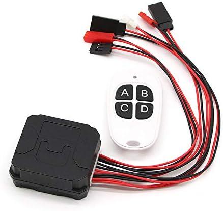 Mefeny Receptor de Control Remoto Inal/áMbrico de Control de Cabrestante CH4 de 4 V/íAs para 1//10 RC Crawler Axial SCX10 90046 TRX4 Redcat