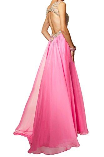 Rosa Steine Damen Beliebt Abendkleid Promkleid Ivydressing Festkleid A Linie Rueckenfrei BUxzq