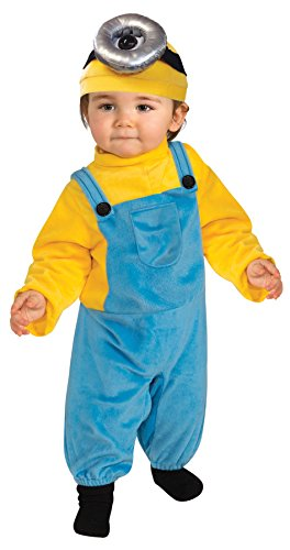 Minion Outfit Kids (UHC Boy's Minion Stuart Fancy Dress Toddler Outfit Halloween Costume, Toddler (3-4T))