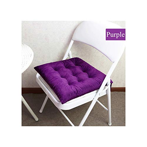 plummei 9 Colors Available Seat Cushions Thicken Chair Cushion Pads for Living Room Decoration Sofa Chair Back Pillow,Pule,About 45X45Cm ()