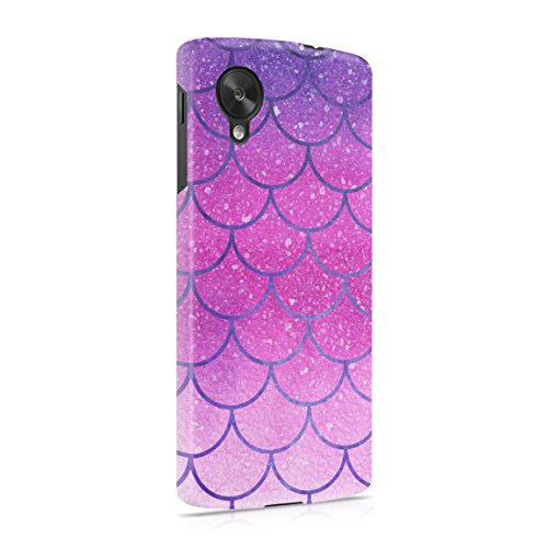 Purple Ombre Scales Pattern Hard Plastic Phone Case For LG Google Nexus 5 (Nexus 5 Phone Case Purple)