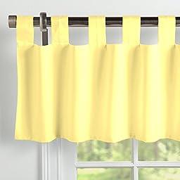 Carousel Designs Solid Banana Window Valance Tab-Top