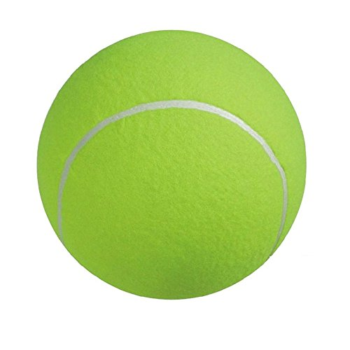 HYSUNG 9.45in/24cm Giant Tennis Ball for Pet Chew Toy Big Inflatable Ball Jumbo Pet Toy Ball MEGA Jumbo Big Tennis Ball Supplies Outdoor Cricket 9.5inch